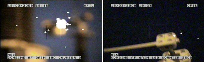 Corona observed at 400 kV