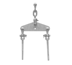 Single tension normal string Hardware for twin zebra (330mm spacing)