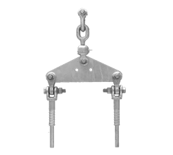 Single tension normal string Hardware for twin zebra (330mm- spacing)